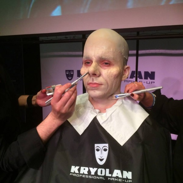 Stephen's Phantom begins, pic: Kryolan