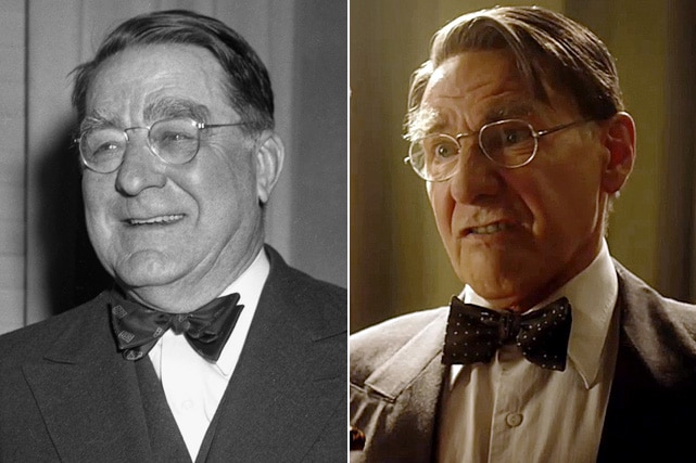 Speaking of trust, Karen told us about working with longtime collaborator Harrison Ford, trusted with receding his hairline  to play Branch Rickey in 42. Image Source