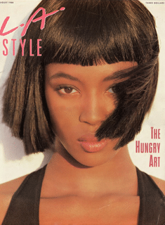 Naomi Campbell on the cover of LA Style in 1988