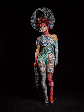 Special Award Bodypainting Team Category 3rd Place - Silvia Vitali & Tiziana La Monica