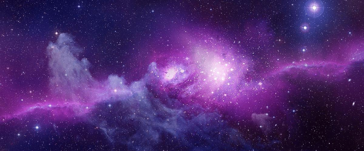 cosmic purple header