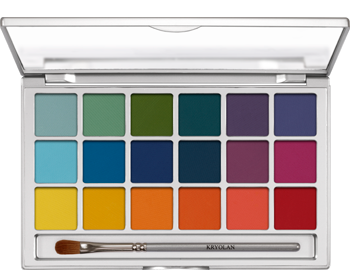 Kryolan Variety eye shadow palette
